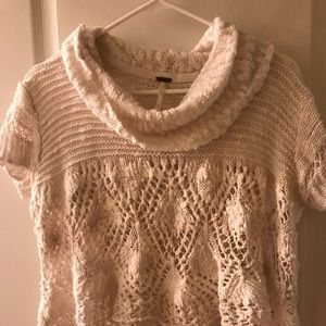 Free People cropped cowl neck sweater M